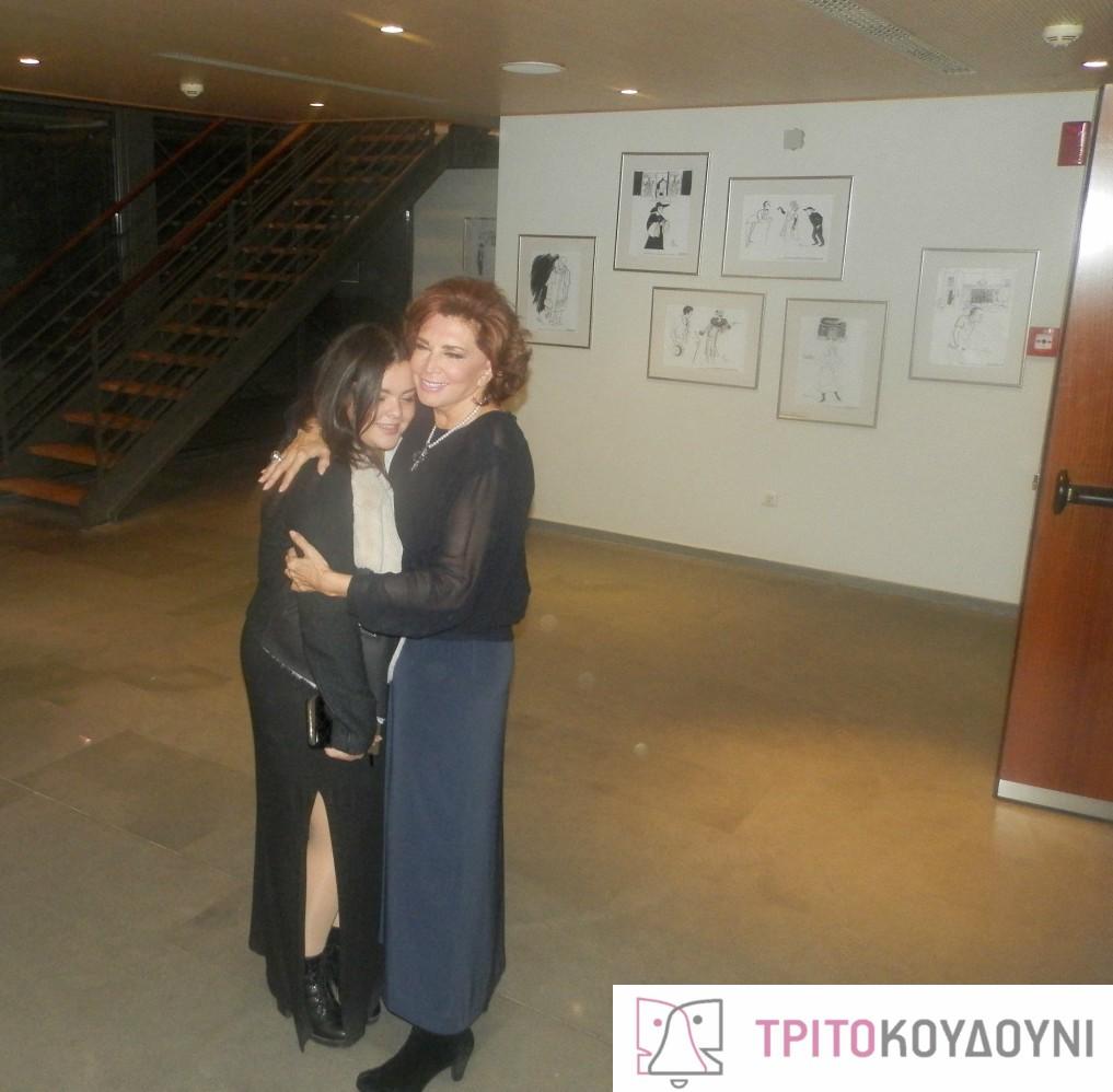 Η Μιμή Ντενίση με την κόρη της Μαριτίνα